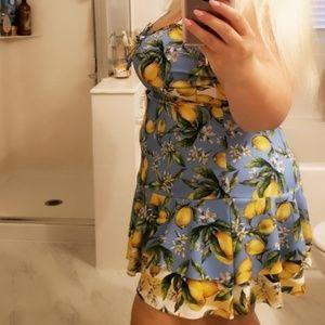 Dresses - Ruffle lemon dress
